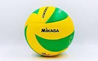 Мяч волейбольный клееный MIKASA PU, №5, 5 сл., клееный (MVA-200CEV)