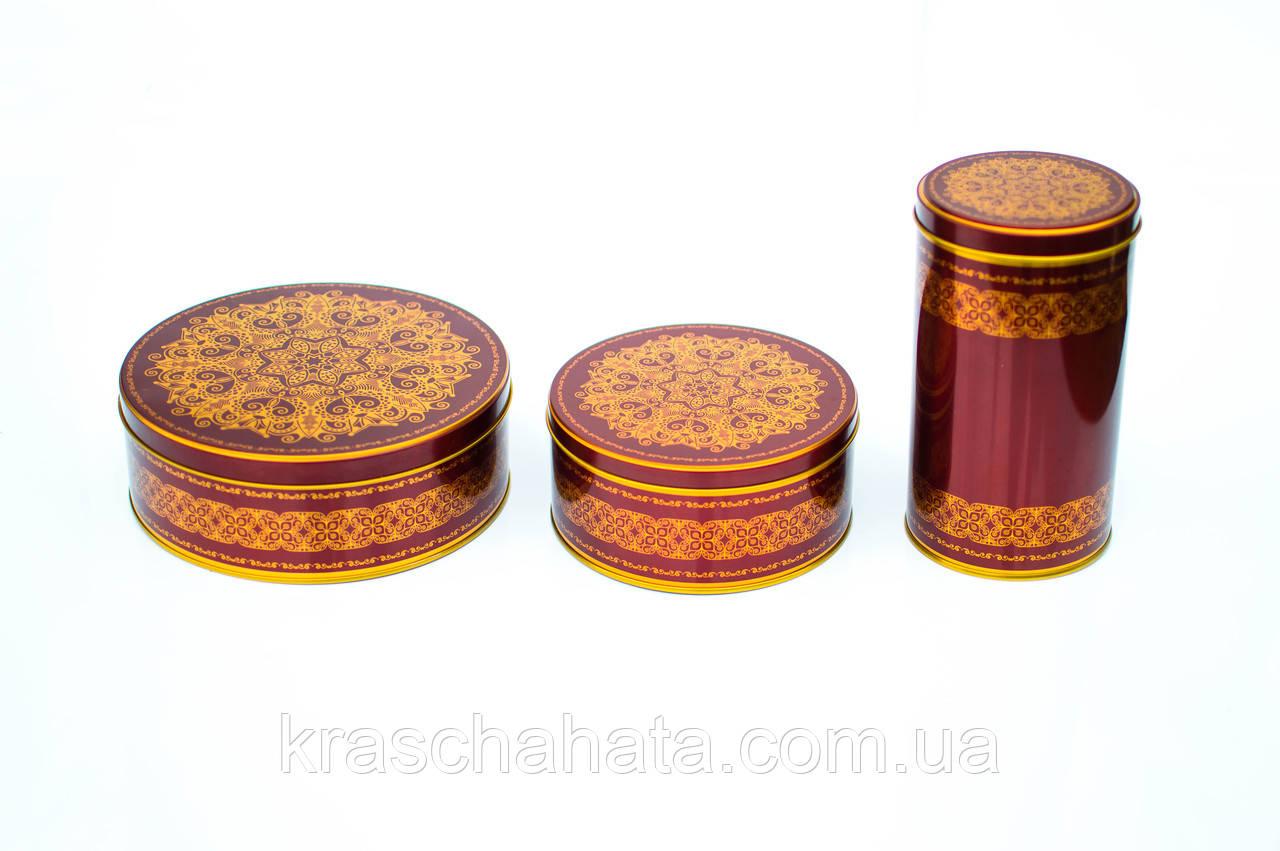 Коробка с крышкой из жести, 10х19 см, Шоколад золото, Праздничная упаковка из жести, Днепр