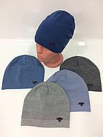 Детские вязаные шапки для мальчиков, р.48-52, Ambra (Польша)
