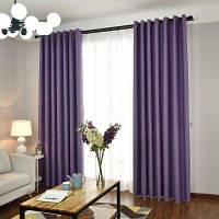 Простой и элегантный стиль Гостиная Спальня Blackout Curtains Grommet 2x (57 ширина x 84 длина)