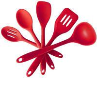 Силиконовые Посуда Твердое покрытие 5 Pieces Премиум Силиконовый Выпечка Набор Spatulas Ложка Turner Кулинарный Инструмент Кухонная утварь 5Pcs / set