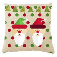 Мягкий Рождественский Дед Мороз Декоративная Печать Домашний Декор Подушка Цветной