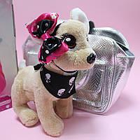 Кикки собачка музыкальная в сумке типу Чичи Лав