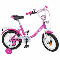 Велосипед детский PROF1 14д. Y1482 Flower, малиновый