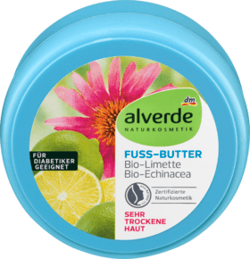 Alverde масло для ног Fußbutter Limette Echinacea