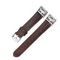 Ретро запасной ремень из натуральной кожи запасной ремешок для Fitbit Charge2 Темно-коричневый