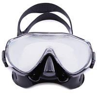 MM100 профессиональная противотуманная силиконовая маска для подводного плавания с цветным зеркалом Чёрный
