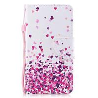 Окрашенный PU-телефон Чехол для iPod Touch 5 / Touch 6 розовый+белый