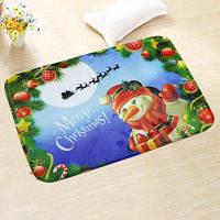 Творческий фланель Пол Мат Рождественский стиль Печатный коврик 1PC Цветной