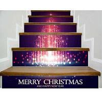 DSU Рождественская елка Рождество Новый год стикер стены стикер Домашние украшения 6PCS 18 x 100 см