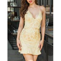 Платье На Тонких Лямках С Вышивкой И Открытой Спиной XL