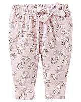 Трикотажные штанишки с принтом OshKosh для девочки