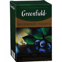 "Чай весовой Greenfield черный 100гр ""Blueberry Nights"" + черника, сливки, гибискус, лепестки мальвы"