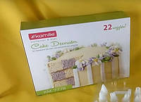 Кондитерский шприц-пресс из пластика (21 насадка) Kamille 7778