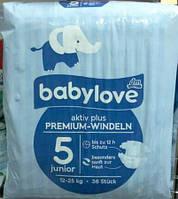 Babylove подгузники Junior 5 (12 - 25 кг) 36 шт. Германия