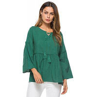 Женская свободная рубашка с длинными рукавами с длинным рукавом один размер