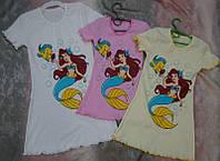 Ночная сорочка для девочки трикотаж рибана 28-36 р Ариэль, ночные сорочки для девочки оптом от производителя