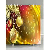 Рождество Сосна Фенечки Печать Ткань Водонепроницаемый Занавески Для Душа W59 дюймов * L71 дюймов