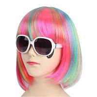 Женская мода Прямой короткий Хэллоуин COS Party Dance парик для волос Синий и красный