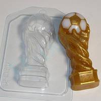 Пластиковая форма для мыла кубок футбольный