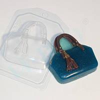 Пластиковая форма для мыла сумочка с кисточкой