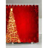 Рождественская Елка Звезды Печать Ткань Водонепроницаемый Занавески Для Душа W59 дюймов * L71 дюймов