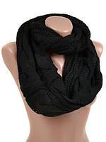 Зимний шарф снуд черный