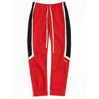 Drawstring Color Block Мужские спортивные штаны 2XL