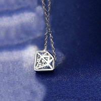 Кольцо с бриллиантами Серебристый