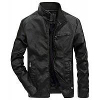 Тонкий хлопок Внутренние мужские осенние кожаные куртки 4XL