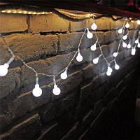 10M 100 светодиодов Декоративный свет шнура круглый шарик сформированный праздник партии свет белый свет