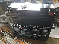 Аккумулятор Elite 12V 18A 180×165×75