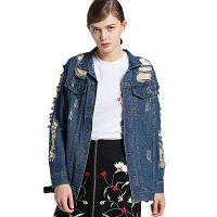 Куртка джинсовой модной одежды для женщин XL