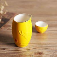 Керамические стопки чашки в китайском стиле для ликера 5шт Кошка