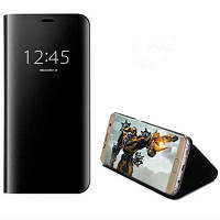 Чехол для Samsung Galaxy S7 Edge с подставкой Зеркальное зеркало Flip Auto Sleep Wake Up Full Body Solid Color Hard PC Чёрный