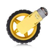 Колесо дрона и электрическая машина Жёлтый и чёрный