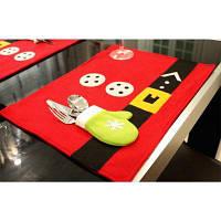 Рождественский стол Мат Ресторан Украшение Западный нож и вилка таблицы Мат Set Разноцветный