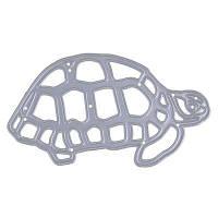 Черепахи Металлические режущие штампы Шаблонная тиснение Папка Трафарет DIY Scrapbook Серебристый