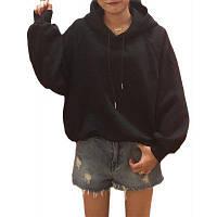 Женская толстовка с капюшоном с длинным рукавом с капюшоном 2XL