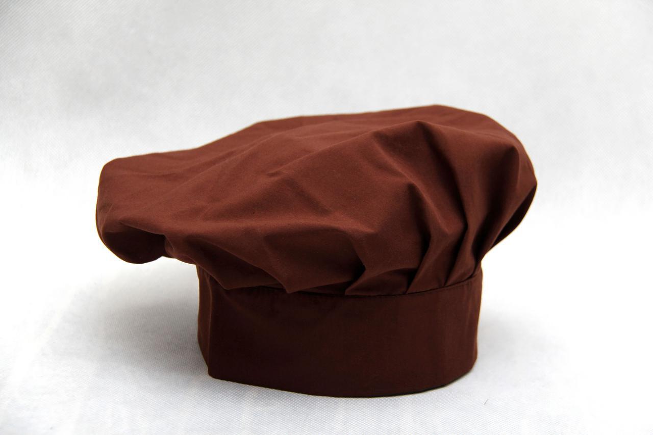 Шапка поварская «БИЗЕ» коричневая