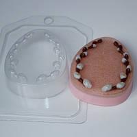 Пластиковая форма для мыла яйцо плоское с вербой