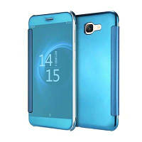 Роскошный новый ясный вид Smart Flip кожаный чехол для телефона Samsung Galaxy J7 Max Небесно-голубой цвет