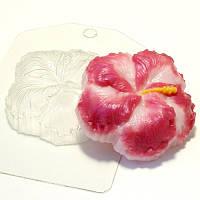 Пластиковая форма для мыла гибискус