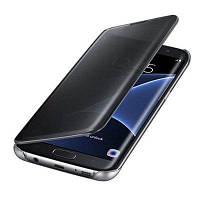 Роскошное зеркало с зеркалом заднего вида с флип-смартфоном для Samsung Galaxy S7 Чёрный