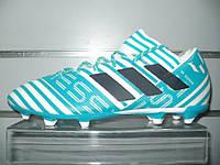 Футбольные бутсы adidas NEMEZIZ MESSI 17.3 FG - white/legend ink/blue (BY2414)