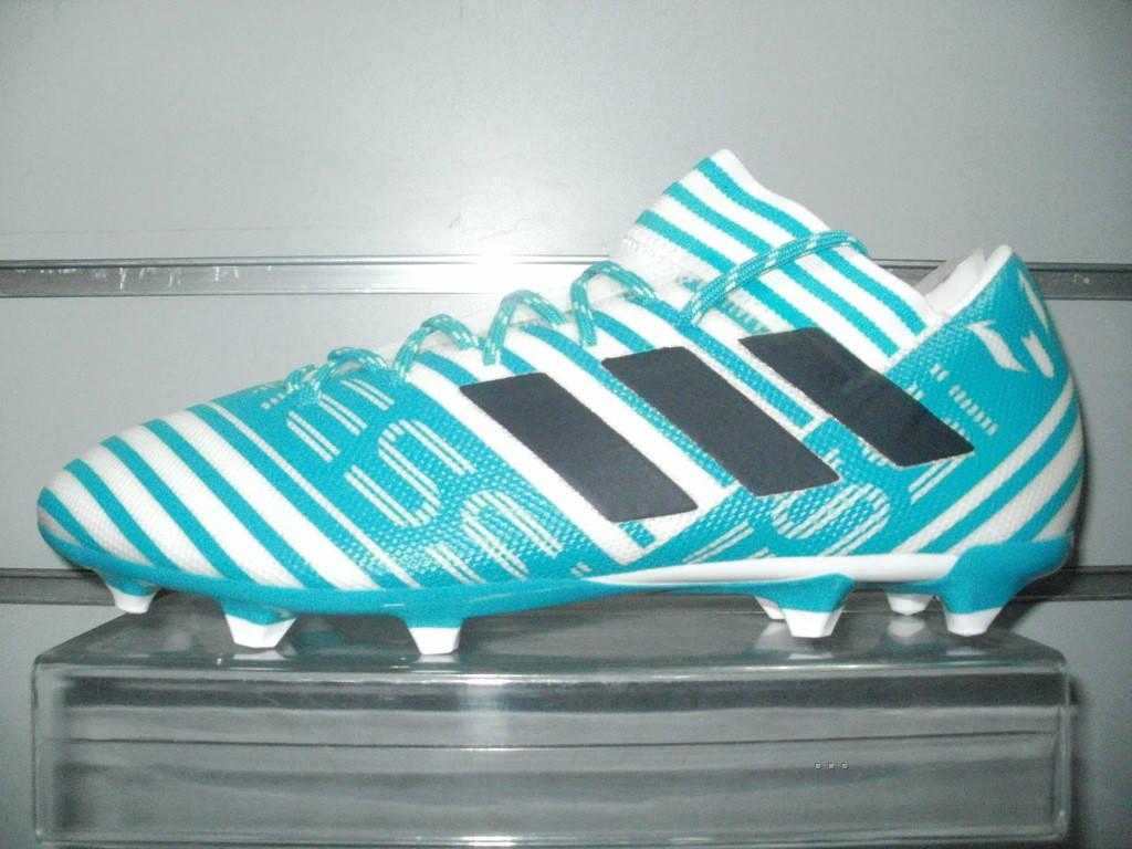713aa734 Футбольные бутсы adidas NEMEZIZ MESSI 17.3 FG - white/legend ink/blue  (BY2414