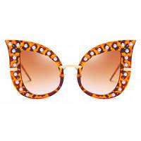 SENLAN 66261Модные модели Женские солнцезащитные очки леопард+коричневый