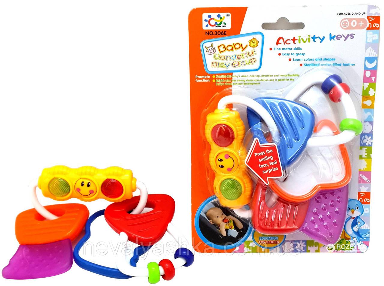Развивающая Погремушка + Грызунок Светофор Свет, Huile Toys, 306 E, 001681