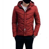 Зимние с капюшоном Толстые мужские хлопок-мягкой одежды Зимние теплые мужские хлопок-мягкие куртки Мужчины зимние теплые пальто XL