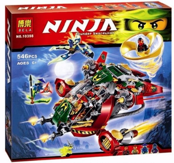 Конструктор Bela 10398 Ninja Ниндзя Ninjago Ниндзяго Ронин Рекс 546 дет